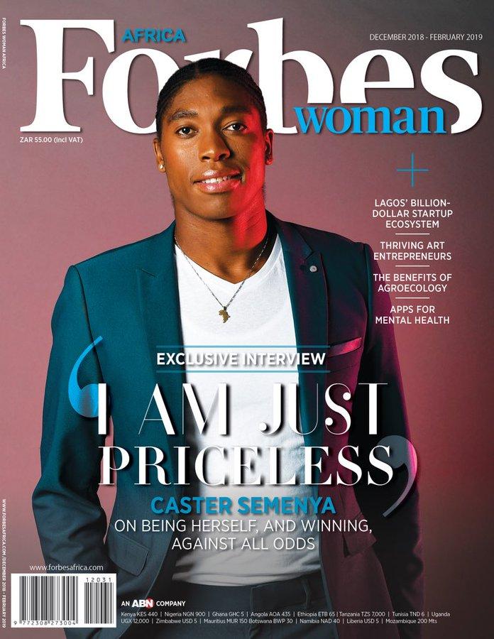 La copertina di Caster Semenya su Forbes Woman Africa  divide l'opinione su Twitter