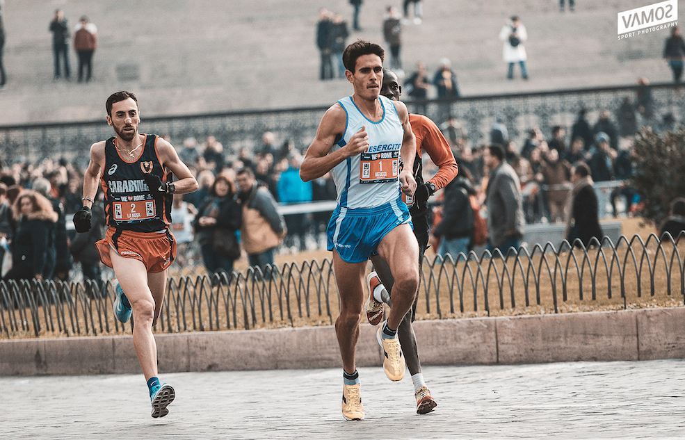 Daniele Meucci ai nastri di partenza dell'Atleticom We Run Rome 2018
