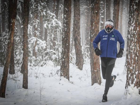 """La grande sfida di Paolo Venturini, """"correro' a meno 60gradi"""""""