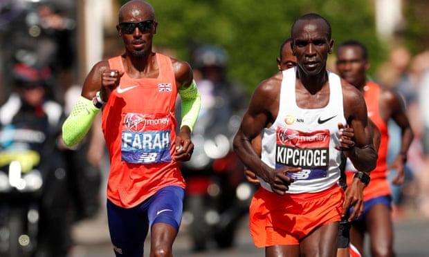 Mega sfida tra Kipchoge e Mo Farah nella Maratona di Londra