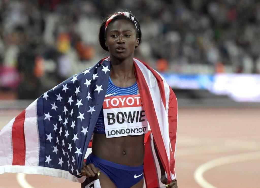 Tori Bowie velocista campionessa mondiale CACCIATA dal campo di allenamento