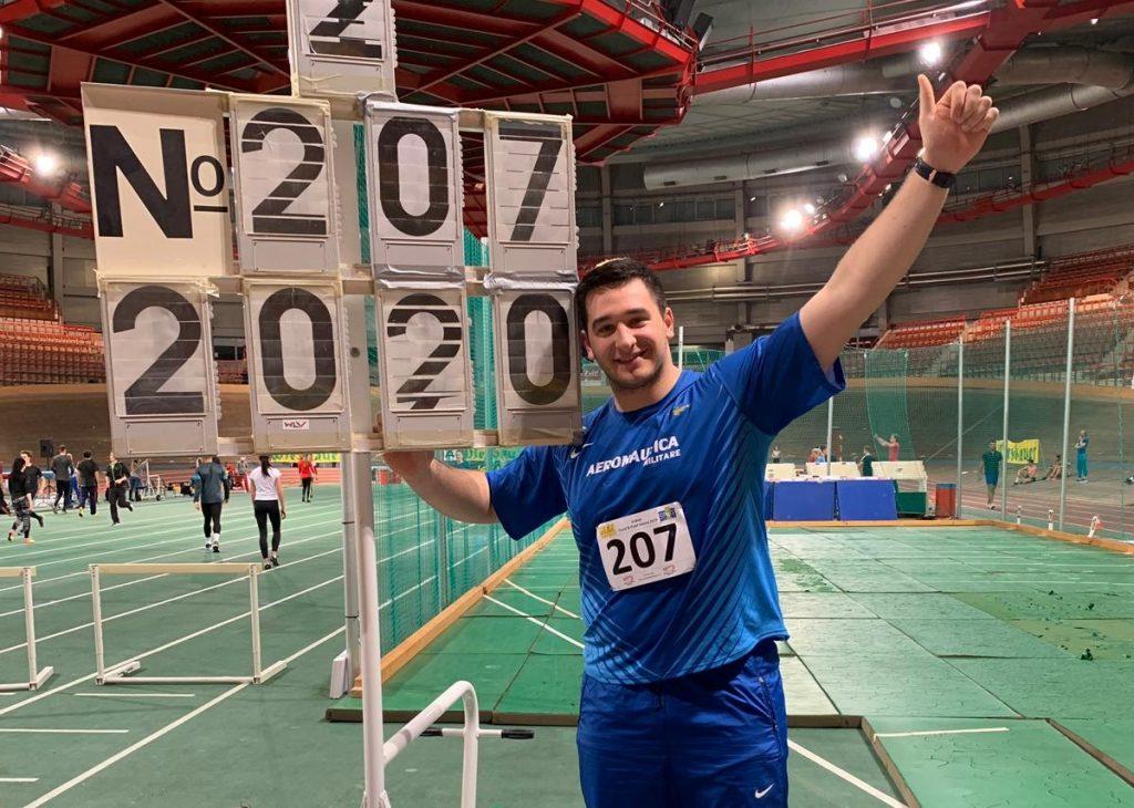 Bordata di Leonardo Fabbri nel peso: record italiano U23 e minimo per Glasgow