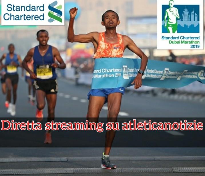 La diretta della Maratona di Dubai 2019 questa notte  ore 3.00 su atleticanotizie