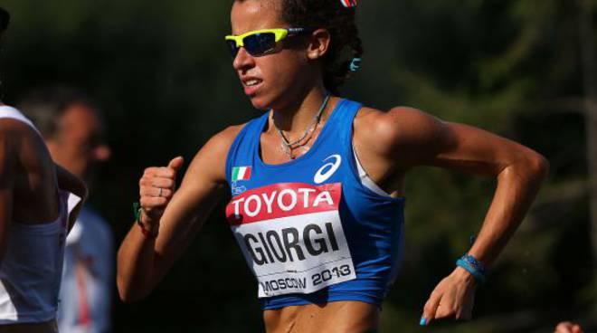 Eleonora Giorgi ottimo test sui 35 km nella marcia a San Giorgio di Gioiosa Marea (Messina)