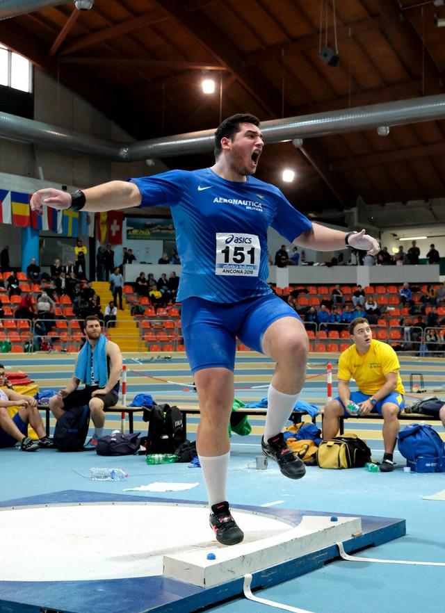 Leonardo Fabbri si piazza 6° a Madrid nel peso vinto da Storl