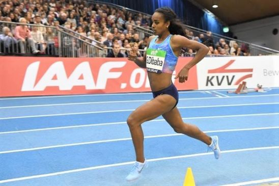 Genzebe Dibaba stampa il secondo miglior tempo Indoor nei 1500m All Time a Karlsruhe