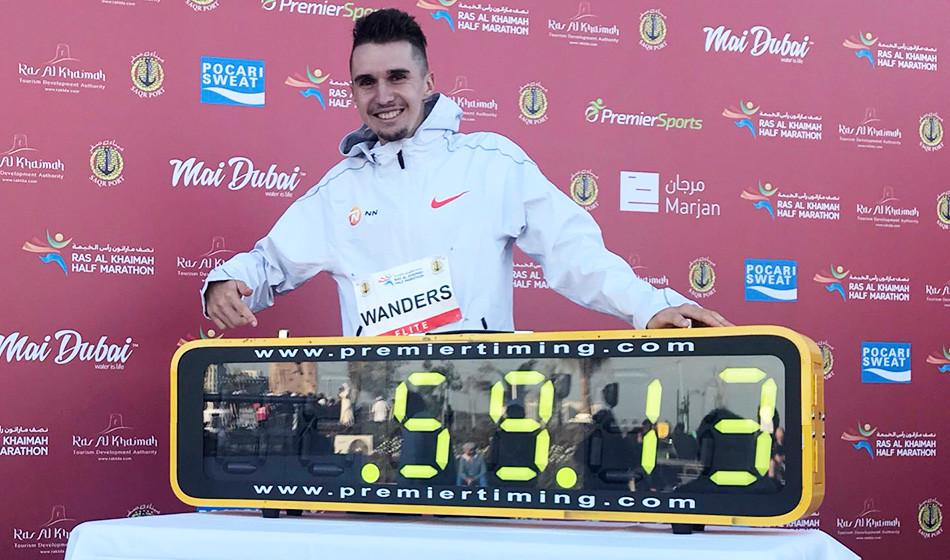 Strepitoso record europeo di Julien Wanders nella mezza maratona al Rak, storica corsa in 11 sotto i 60:00!