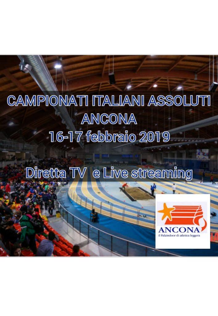 Assoluti Ancona 3^ giornata, LA DIRETTA STREAMING