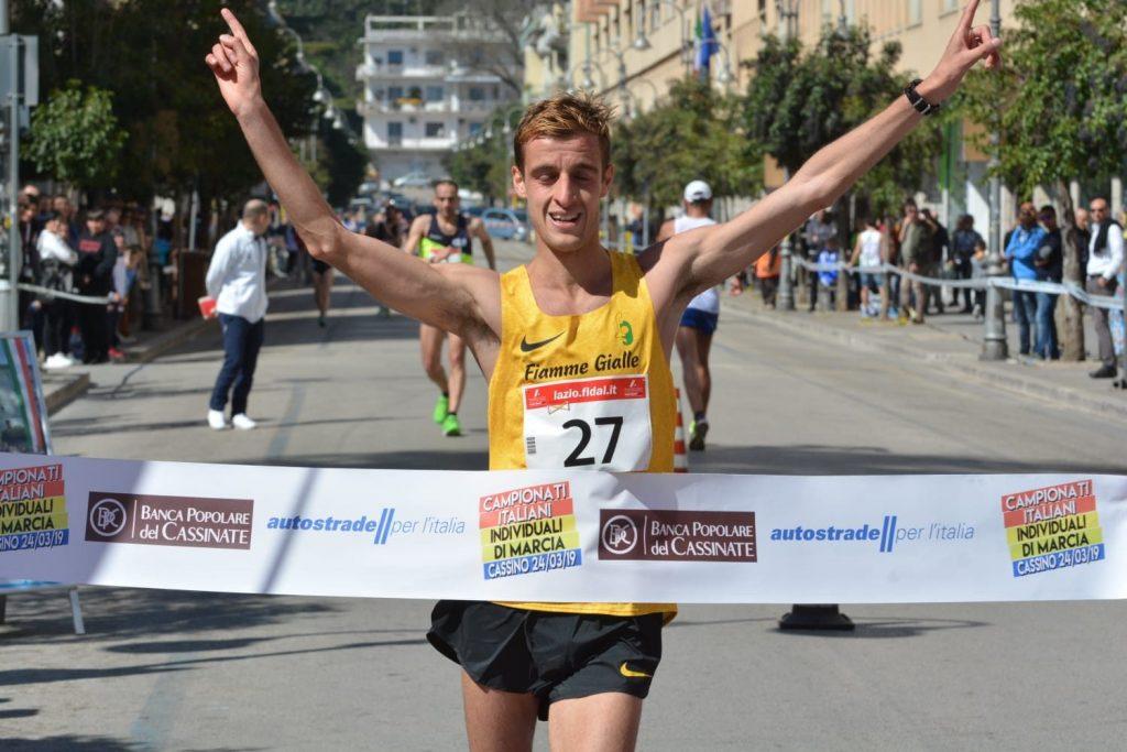 Francesco Fortunato ed Eleonora Dominici vincono il titolo italiano di marcia 20 km.