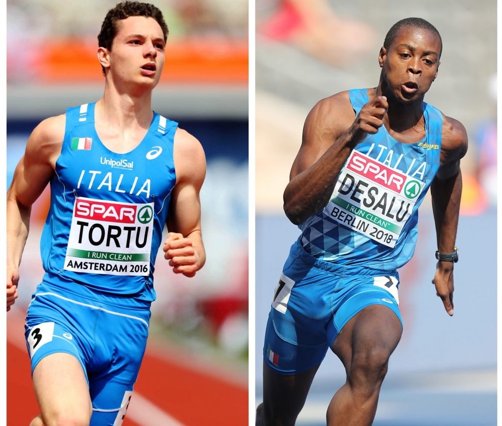 Filippo Tortu e  Fausto Desalu guidano i  velocisti  in raduno a Formia, destinazione World Relays di Yokohama