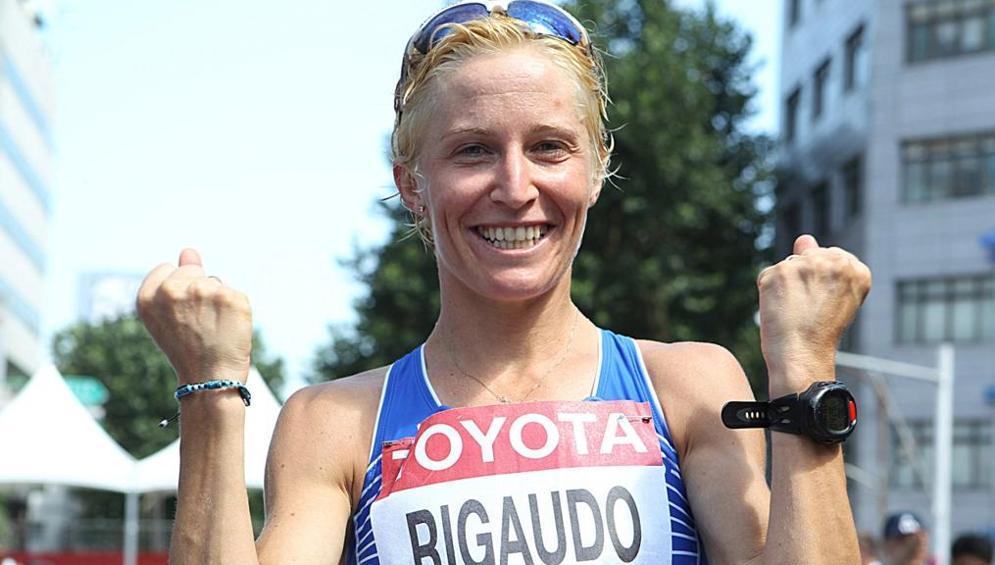 Elisa Rigaudo si prende l' argento mondiale nella 20 km di marcia di Daegu 2011