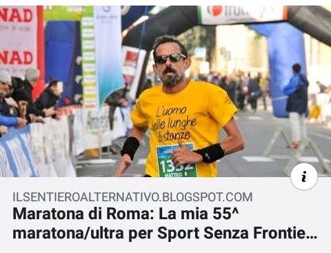 Maratona di Roma: La mia 55^ maratona/ultra per Sport Senza Frontiere-di Matteo Simone