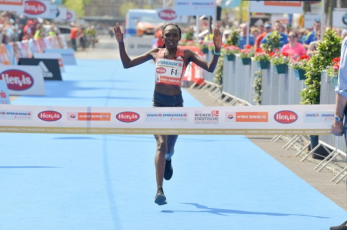 Nancy Kiprop punta alla storica tripletta femminile alla Vienna City Marathon- Risultati LIVE