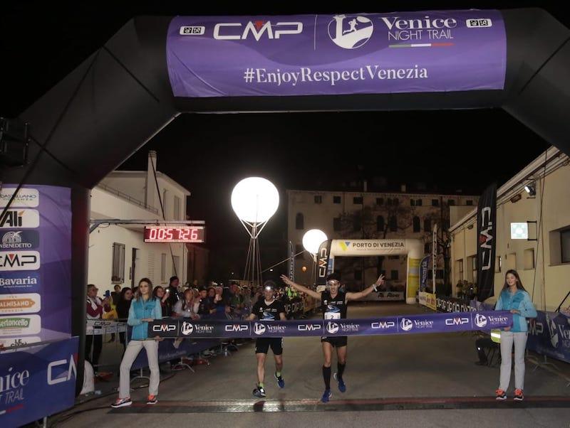 Nicolò Petrin e Sharon Giammetta illuminano il 4^ CMP Venice Night Trail