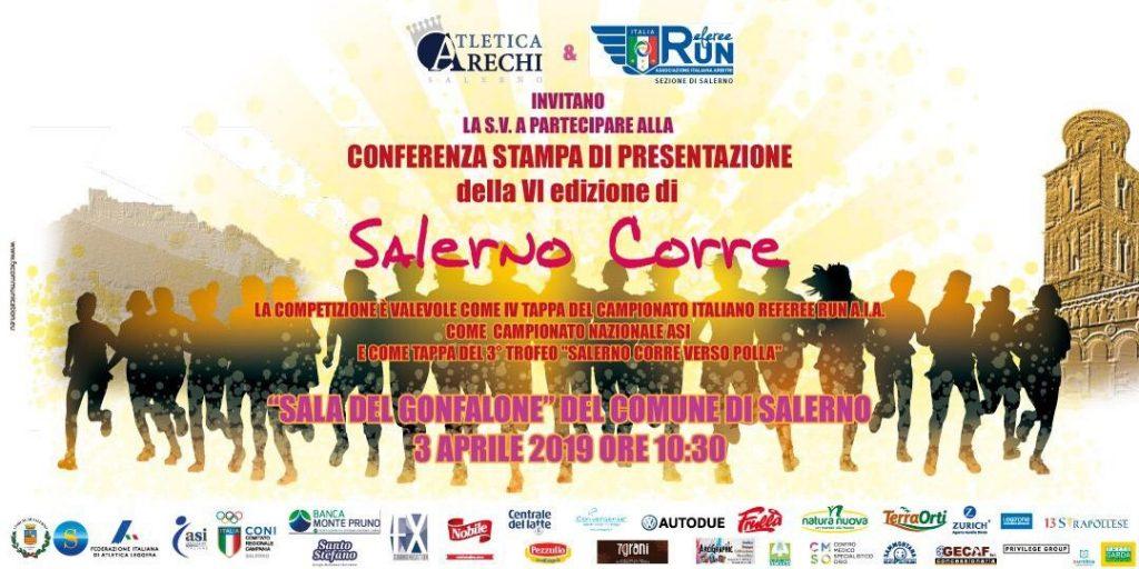 """Mercoledì 3 aprile conferenza stampa di presentazione della VI edizione della """"Salerno corre"""""""