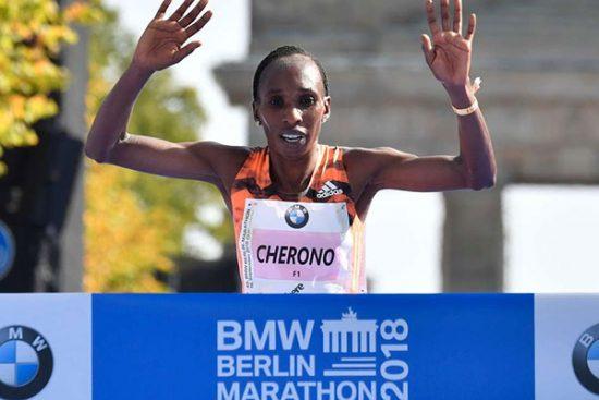 Gladys Cherono va all'inseguimento del record mondiale domenica nella Maratona di Londra