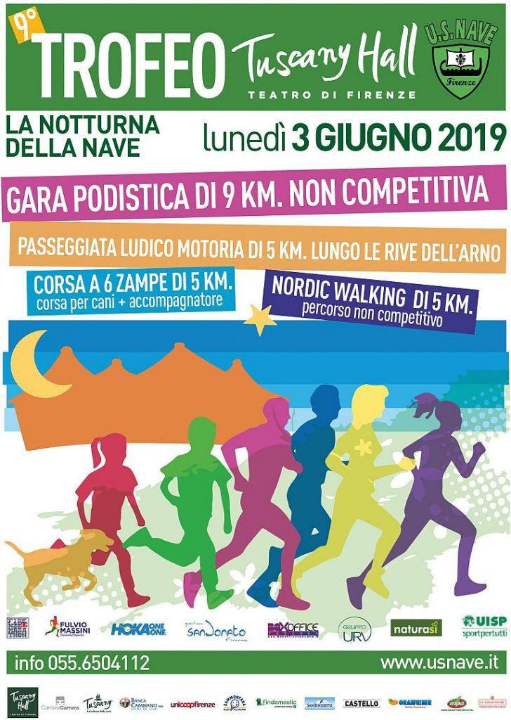 """Il 3 giugno la   """" La Notturna della Nave - 9° Trofeo Tuscany Hall """""""