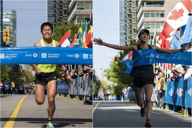 Yuki Kawauchi e la fidanzata vincono la Vancouver Marathon
