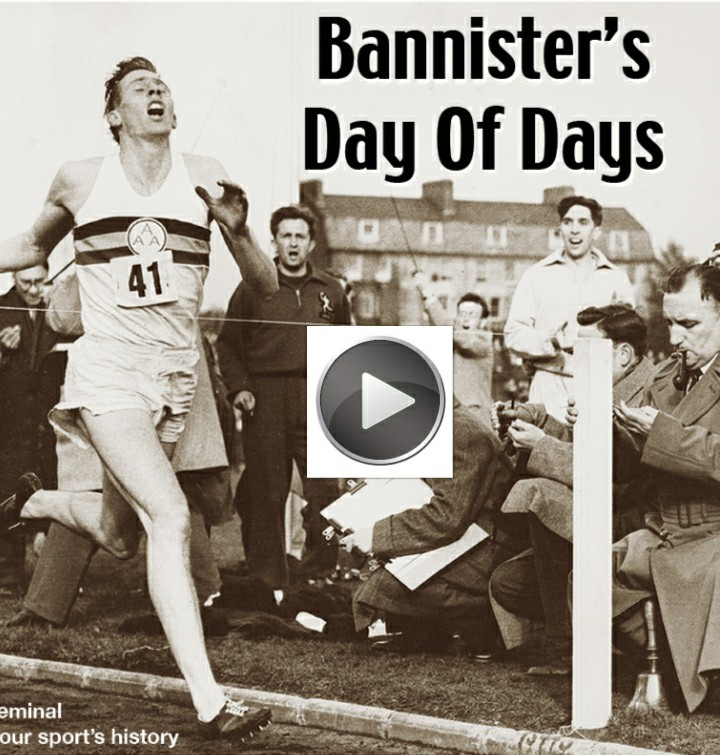"""Roger Bannister 65 anni fa diventava il primo uomo a """"rompere"""" i 4 minuti nel miglio-il video"""