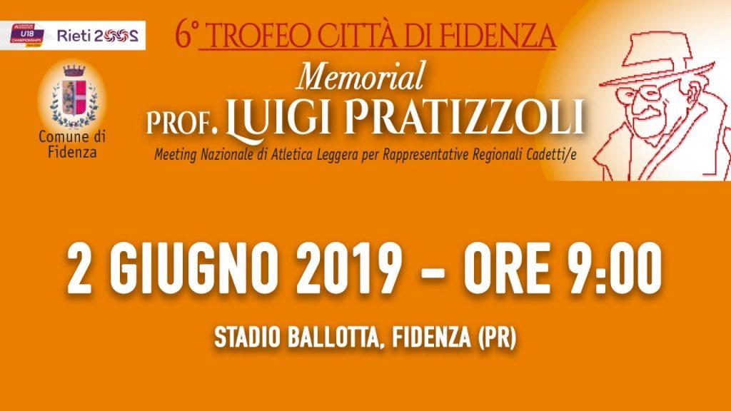 """La diretta streaming oggi  del """"Trofeo Città di Fidenza - Memorial Pratizzoli"""""""