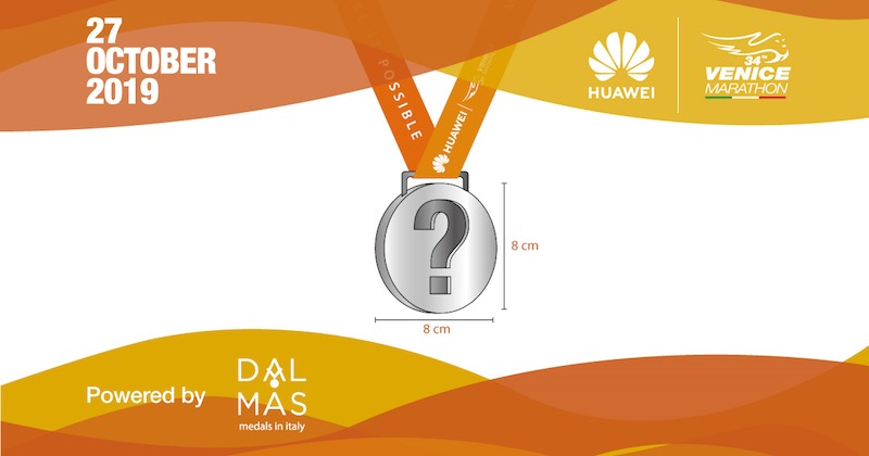 """34^ Huawei Venicemarathon - Al via il contest """"Disegna e scegli la medaglia"""""""