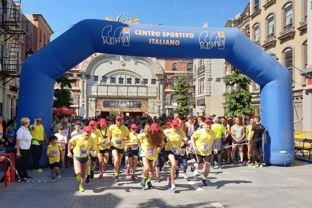 In 1000 corrono con Forrest Gump alla CINECITTA' WORLD RUN