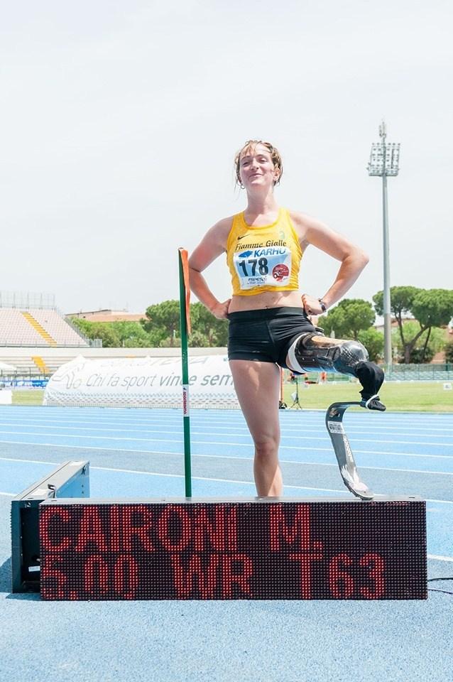 Martina Caironi stabilisce il record del mondo paralimpico nel lungo categoria T63