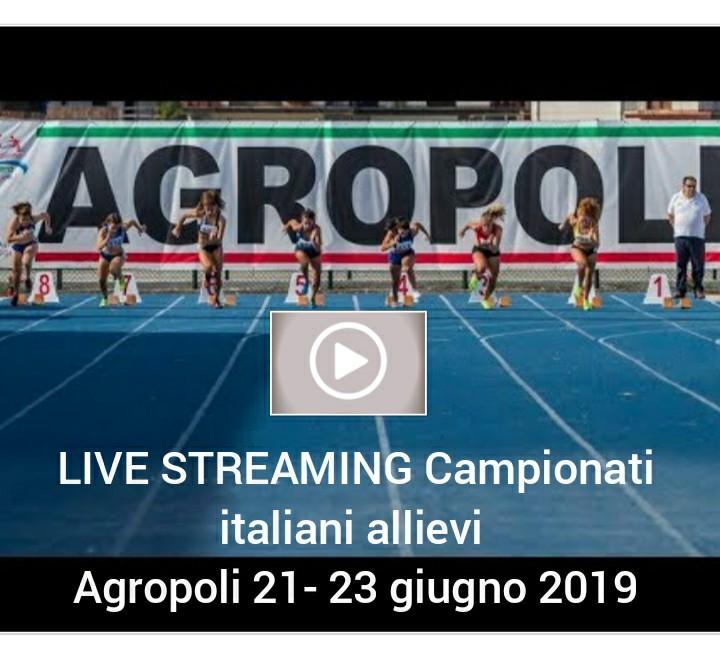 Tricolori Allievi Agropoli: oggi si parte, ecco tutti i protagonisti- LA DIRETTA STREAMING