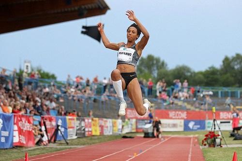 Malaika Mihambo salta 7,05 nel lungo nel Meeting Anhalt
