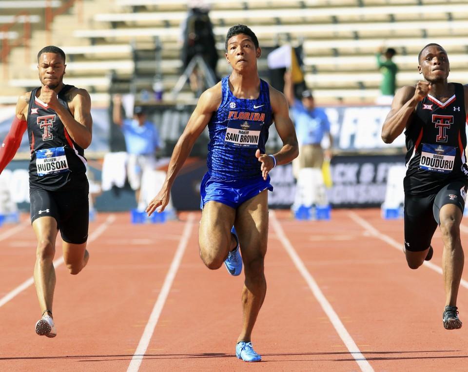 Corre in 9,96 ventoso il giapponese Sani Brown ai campionati NCAA