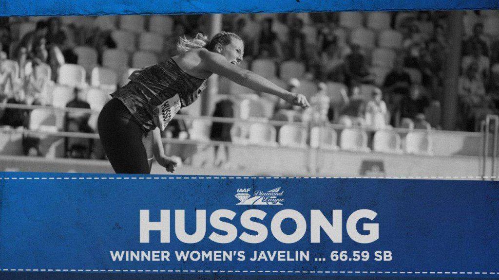 Losanna risultati live: il giavellotto femminile va alla tedesca Hussong con un + 66 metri
