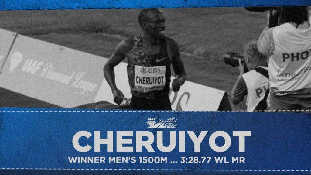 Losanna: un super 1500 metri, vince Timothy Cheruiyot (record del meeting) davanti a Jakob Ingebrigtsen che fa il  PB