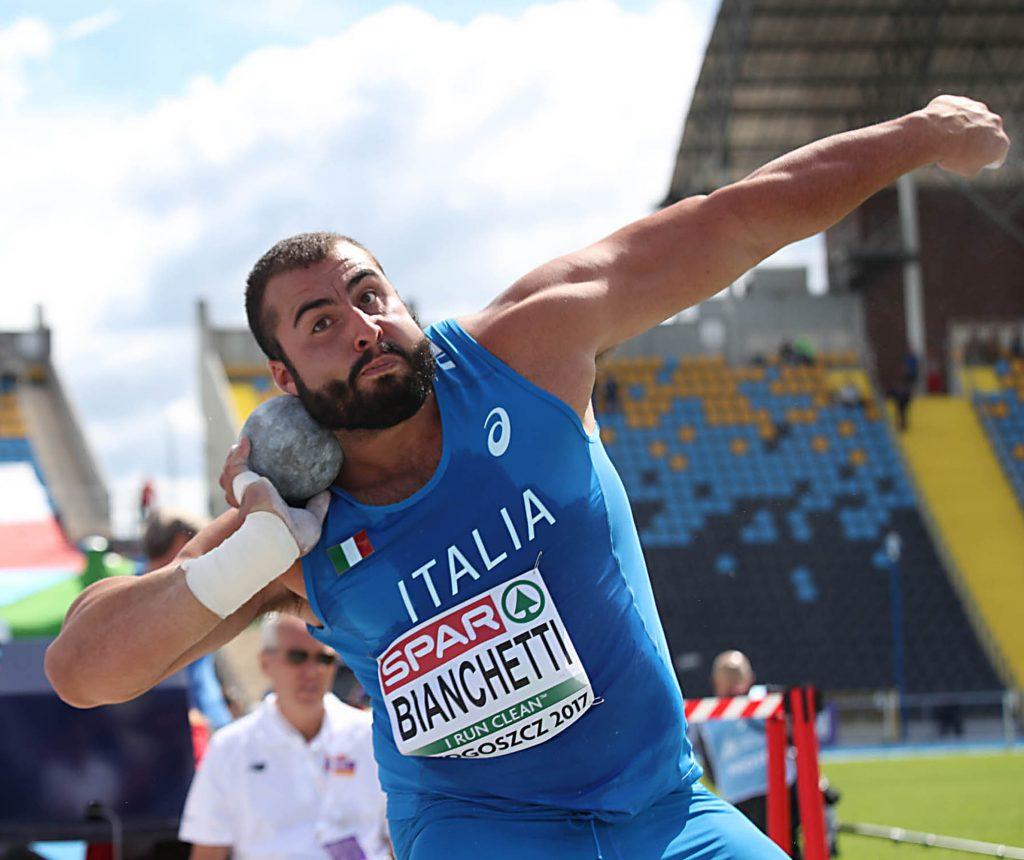 Universiadi atletica: Sebastiano Bianchetti chiude quinto nel getto del peso