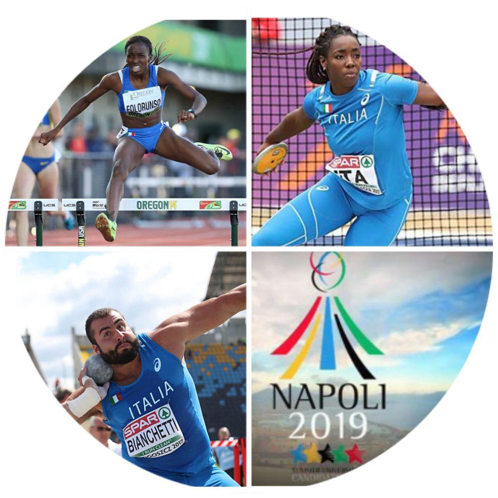 Universiade Napoli atletica - il programma orario di oggi, attesi Folorunso, Osakue e Bianchetti- la diretta