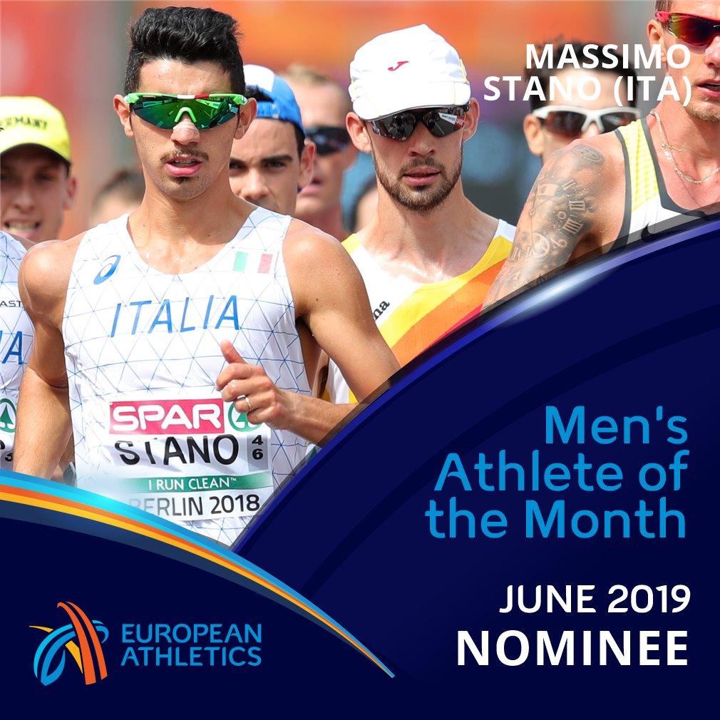 Massimo Stano candidato a miglior atleta europeo del mese di giugno