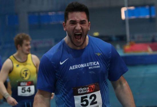 Tuona Leonardo Fabbri, 20,99 nel peso a Vicenza