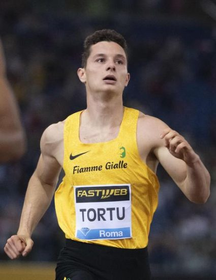 Italian Filippo Tortu competes in the 200 meters man event at the Rome Athletics Diamond League Golden Gala - Pietro Mennea, fourth stage of the IAAF Diamond League circuit, at the Olimpico stadium in Rome, Italy, 06 June 2019. ANSA/MAURIZIO BRAMBATTI