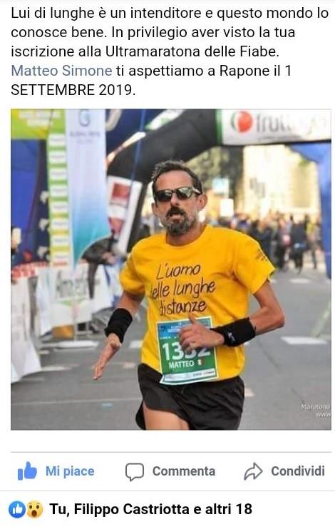 """1 Settembre 2019: Rapone (PZ) Ultramaratona delle Fiabe"""" 46,4 km Gara Fidal Nazionale e Campionato Grand Prix IUTA 46,4km - 16 giri_0- di  Matteo SIMONE"""