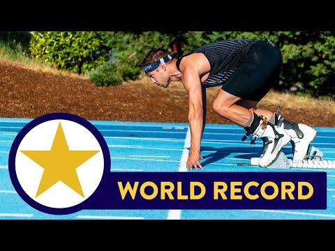 Il video del record del Mondo dei 100 metri con... gli scarponi da sci