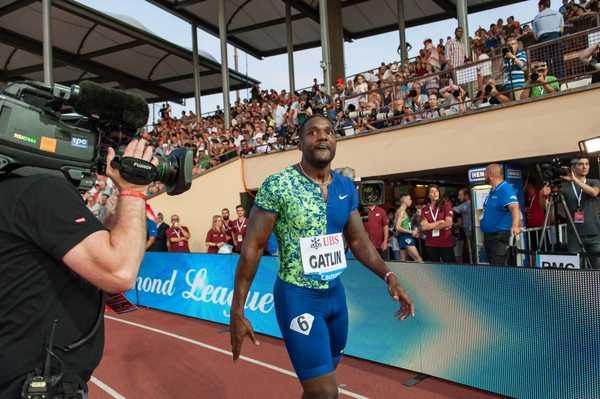 Zagabria: Justin Gatlin si ferma nei 100 metri, mondiali a rischio?