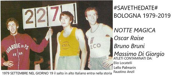 Salto in alto: 40 anni fa lo storico triplo record italiano di Di Giorgio-Bruni-Raise