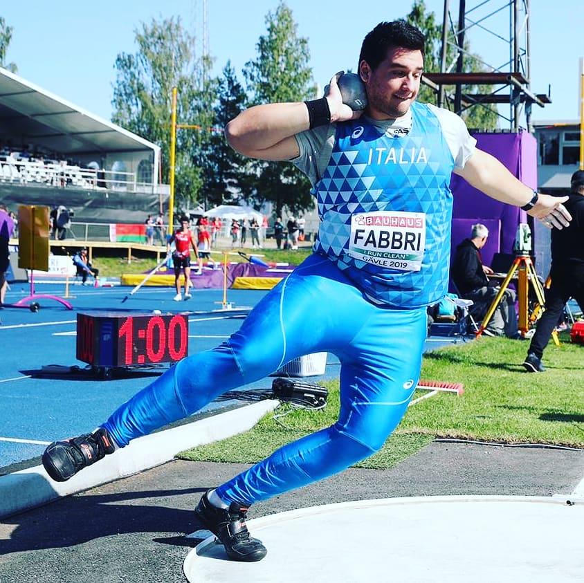 Leonardo Fabbri avvicina il PB nel peso a Rieti nella finale dei Cds U 23
