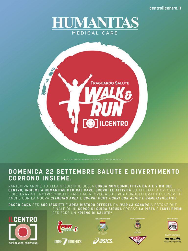 WALK & RUN: A IL CENTRO DI ARESE SI CORRE LA 3^ EDIZIONE