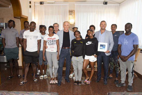L'arrivederci e l'in bocca al lupo di Lignano al team giamaicano in partenza per i Mondiali di Doha