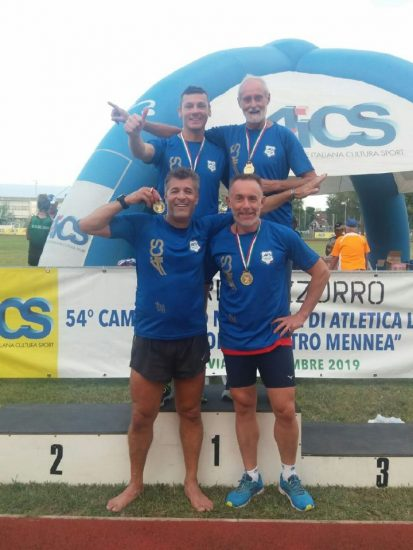 Stafetta Naf oro ai Campionati AICS