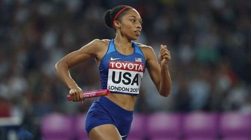 La sei volte campionessa olimpica Allyson Felix selezionata per i campionati mondiali di Doha