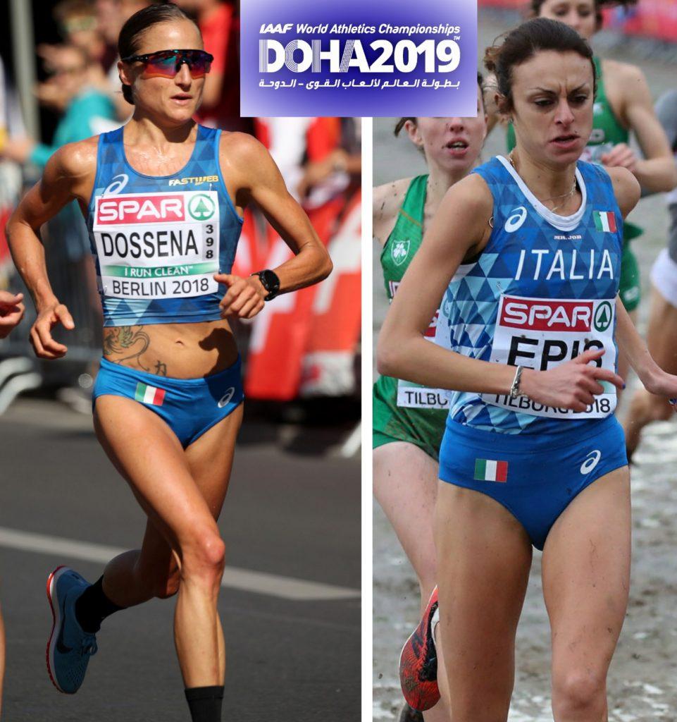 Mondiali Doha: si parte, Sara Dossena e Giovanna Epis nella finale notturna della Maratona