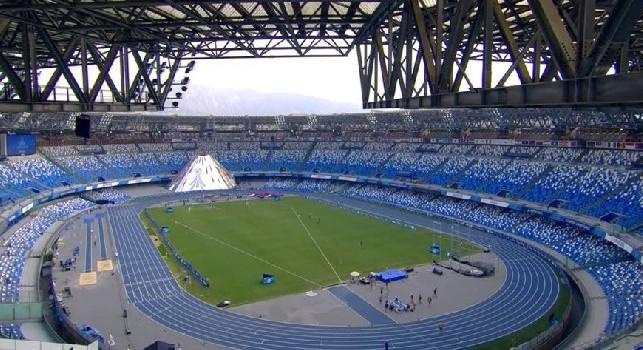 De Laurentiis: eliminazione della pista d'atletica e installazione del Museo del Napoli