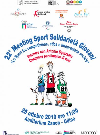 22° Meeting Sport Solidarietà Giovani - locandina