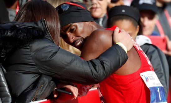 Mo Farah passa il peggior momento nella maratona mentre Lawrence Cherono vince a Chicago